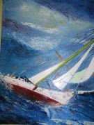 tableau marine marine pop art mer : TEMPETE 1