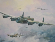 tableau scene de genre bombardier raf 2eme gm aviation : Avro Lancaster